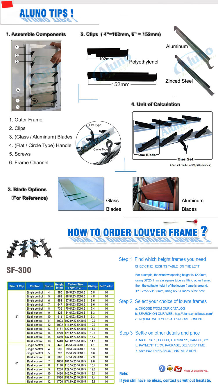 Simple Jalousie Window Hardware Louver Window Parts - Buy glass