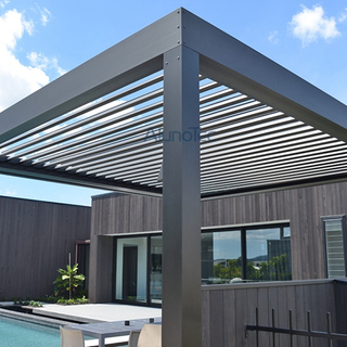 Shade Gazebo Waterproof Awning Motorized Pergola Roof in Garden