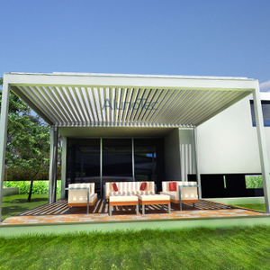 Pergola Louvre Roof System With LED Lights