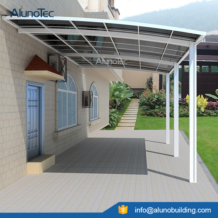 Aluminum Carport Polycarbonate Roofing Buy Outdoor Carport Canopy Metal Carports Kits Polycarbonated Covers Product On Alunotec