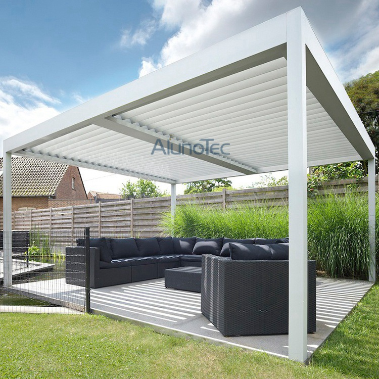 Aluminum Adjustable Shade Pergola With Louvered Roof