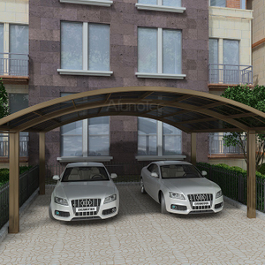 Polycarbonate Aluminum Double Carport for Car Garage