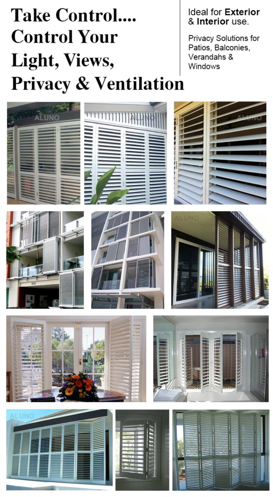 Aluminum Plantation Shutter Door Buy Aluminum Adjustable