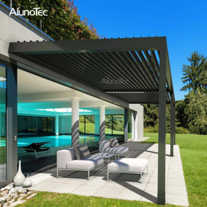 Garden Aluminum Louver Roof Terrace Gazebo Decorative Ceiling Pergola Bioclimatique