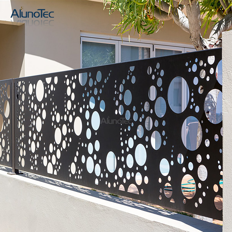 Architectural Powder Coating Aluminum Partition Fence For Outdoor Garden