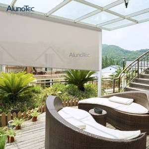 Electric Sun Shading Zipper Side Screens With Retractable Awnings Gazebo