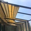 Outdoor Metal Pergola Retractable Awning With Adjustable Roof Louvers