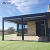 Outdoor Aluminum Pavilion Garden Metal Pergola Waterproof Gazebo With Louvre
