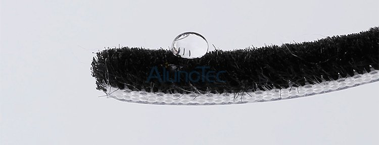 Durable Waterproof Brush Seal Strip Weather Strip Felpa wool Strip