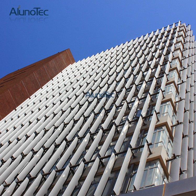 Decorative Vertical Aluminium Aerofoil Sun Louvre For