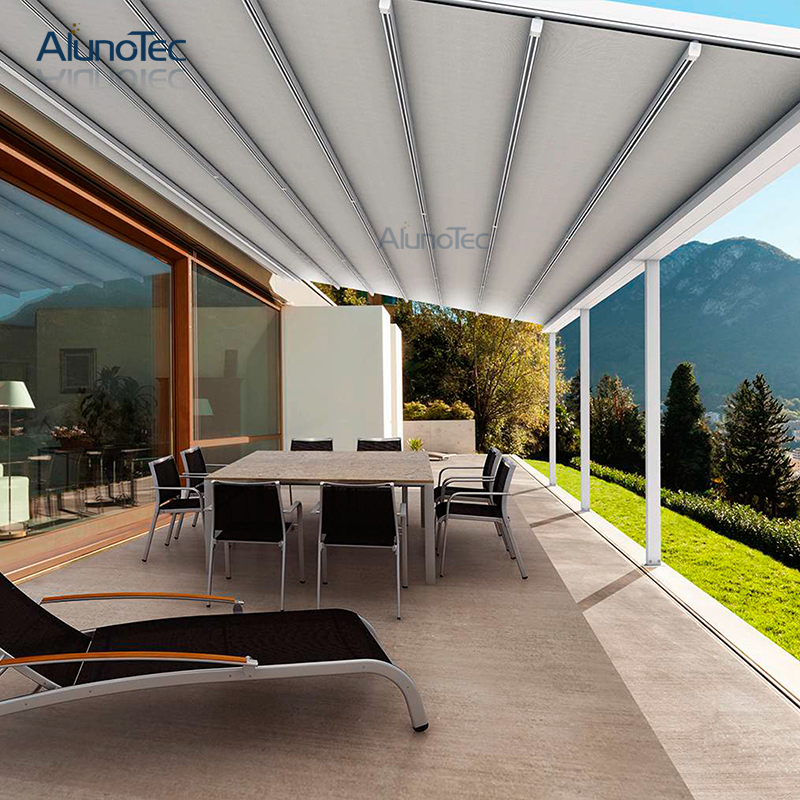 Waterproof Gazebo Retractable Roof Awning For Garden