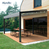 Outdoor Motorized Gazebo Shade Retractable Awning China For Car Shading