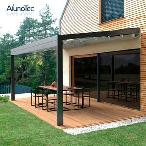 Outdoor Motorized Waterproof Retractable Canopy With Louvered Roof