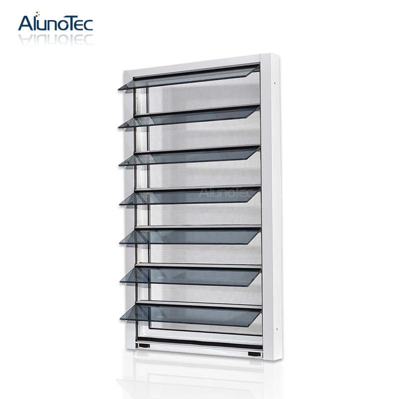 Hot Selling Hurricane Proof Jalousie Window With Fly Net