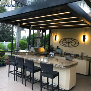 Easily Assembled Rainproof Pergola Motorized Louver Pergola