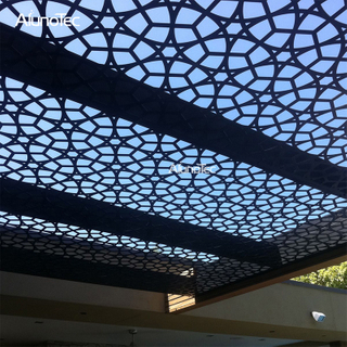 Laser Engrave Aluminum Extrusion Profile Ceiling For Outdoor Living