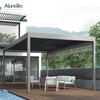 Hotel Waterproof Retractable Electric Pergola With Screens And Lights