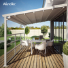 Electric Awning Aluminum Pergola PVC Retractable Roof With Led Lights