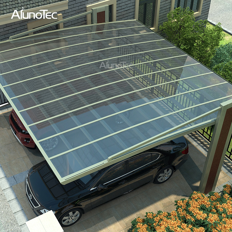Polycarbonate Sheet Bike Shelter Single Carport Design With Arch Roof