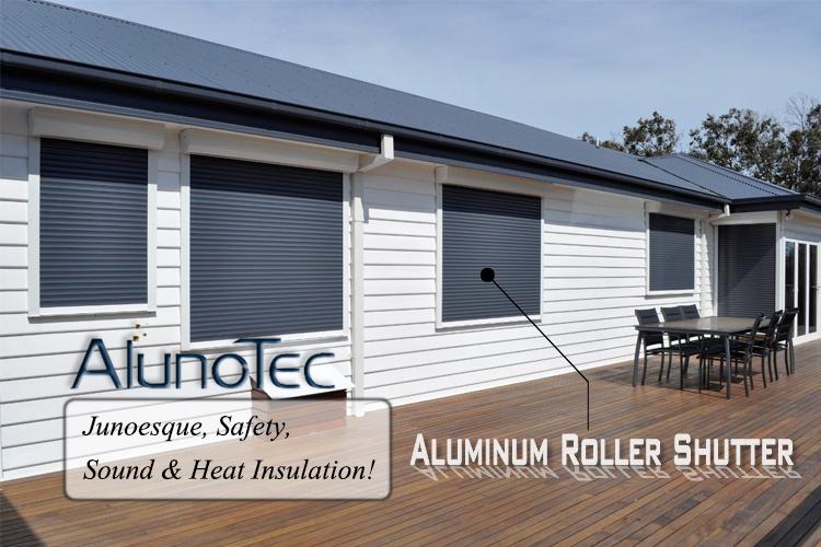 Exterior: Motorized Remote Control Aluminum Roller Shutter For