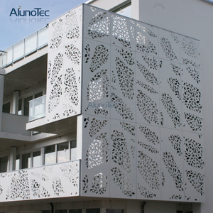 Alunotec Pvdf Coated Aluminum Perforated Wall Cladding Panel For Decoration