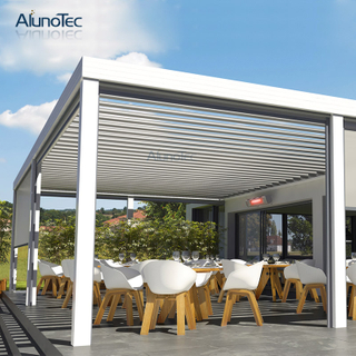 Shading Waterproof Gazebo Modern Pergola With Zipper Screens