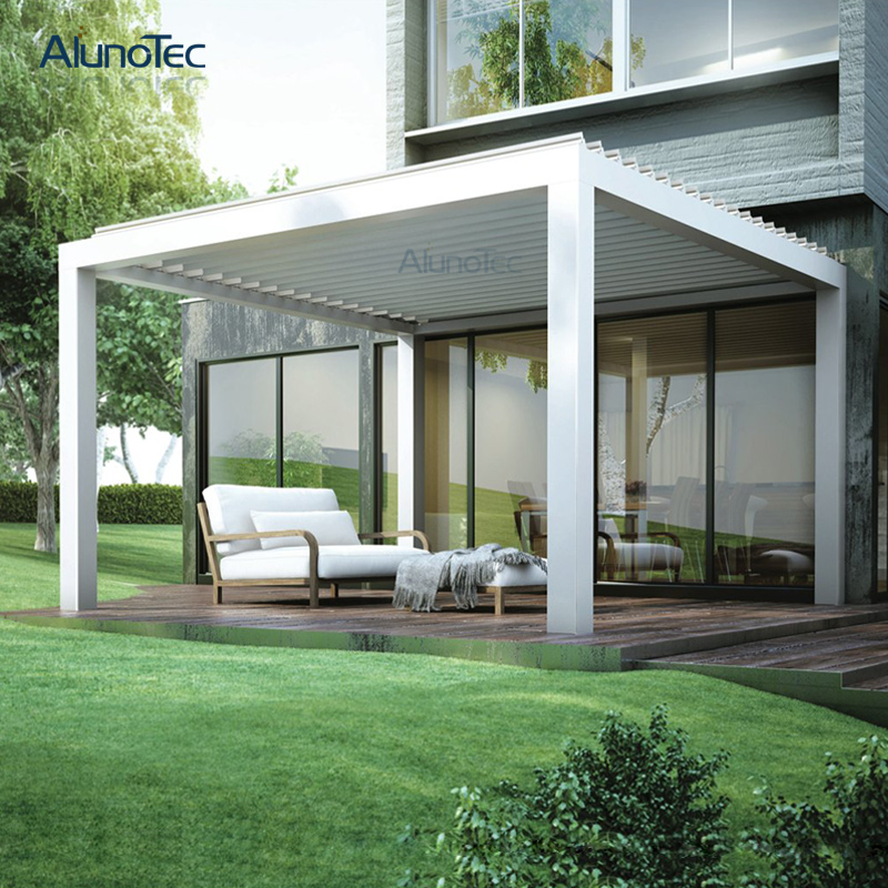 Motorized Aluminium Pergola Retractable Awning For Garden