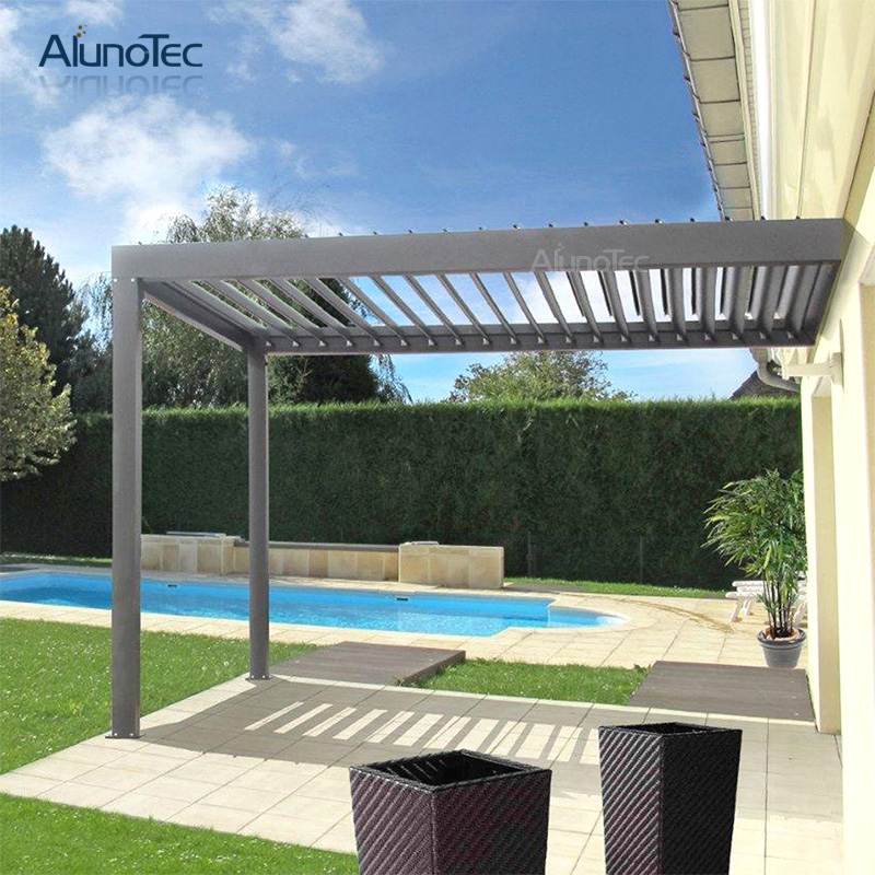 Aluminum Awning Electric Remote Control Pergola For Garden