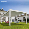Customize Aluminum Awning Adjustable Gazebo Shade Pergola With Louvered Roof