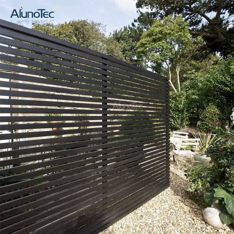 Horizontal Garden Fence Privacy Screen Panel Aluminium Slat Fence Vertical