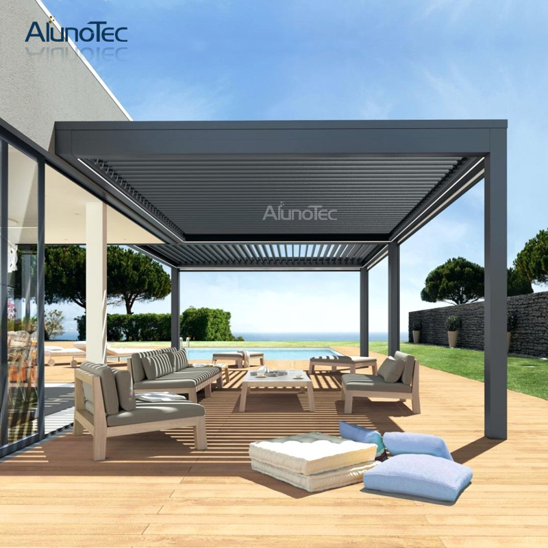 Customized Louvered Roof Aluminum Pergola Kits With Screen