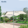 Easy Installation Waterproof Sunshade Cover Polyester Fabric Tents with Powder Coated Metal Frames