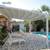 Folding Pergola Retractable Gazebo Awning Waterproofing With Louvered Roof