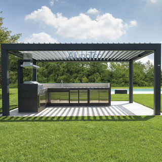 Remote Control Waterproof Outdoor Kitchen Pergola Kits Ideas