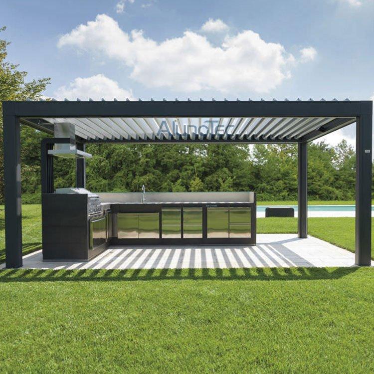 outdoor kitchen pergola kits ideas