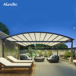 Metal Waterproof Gazebo Folding Roof For Swimming Pool