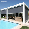 Waterproof Sun Shading Zipped Screen Roller Blinds Outdoor Retractable Awning