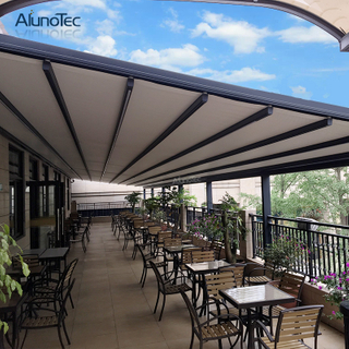 Aluminum Ply Carbonate Awning Villa Retractable Awning Canvas For Garden