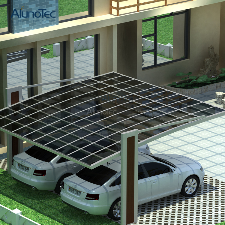 UV Proof Polycarbonate Roof and Aluminum Carport