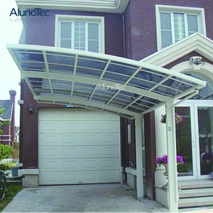 Customized Size Car Canopy Metal Frame Fixed PC roof Carport