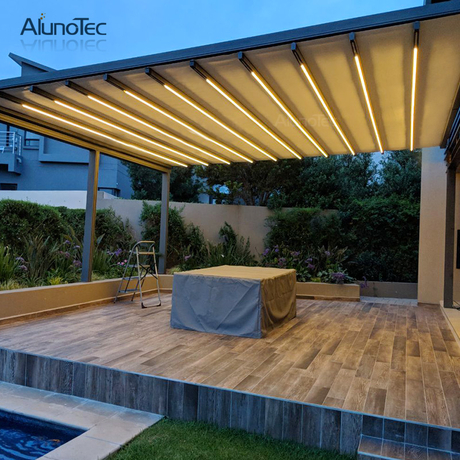 6m Retractable Awning Retractable Roof Price For Living Space