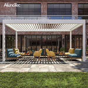 Metal Awning Remote Controlled Gazebo Aluminium Modern Pergola For Sunshade