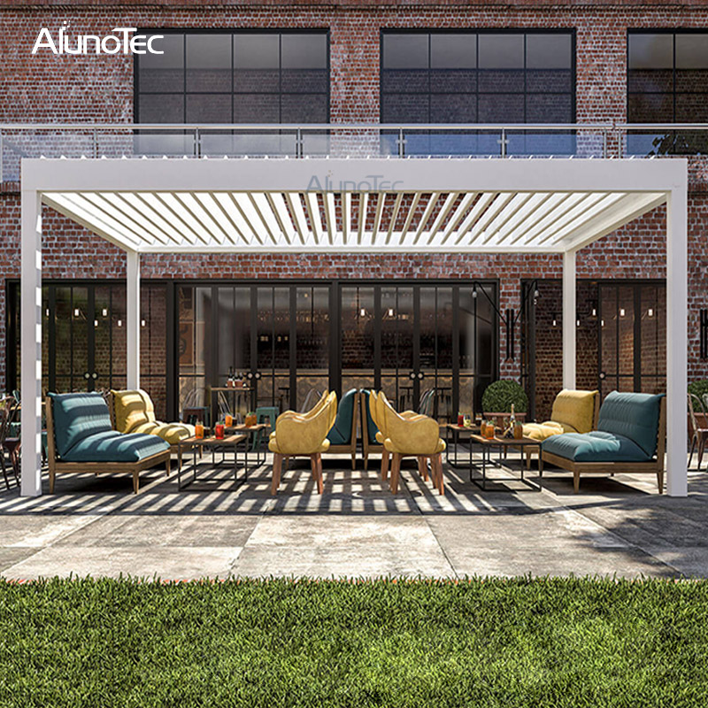 Customize Outdoor Adjustable Aluminium Louvers Pergola For Garden