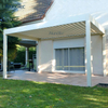 Large Electric Roof Pergola 3x3 Waterproof Garden Aluminium Gazebo Outdoor With Led