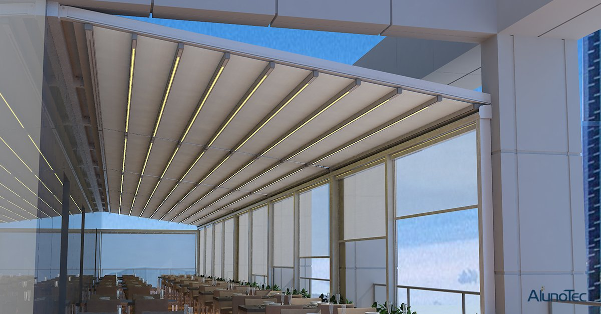 Best Choose Of Additional Living Space--Aluminum Motorized Retractable Roof Pergola