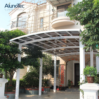 Aluminum High Quality Polycarbonated Sheet RV Flat Metal Carport Kits