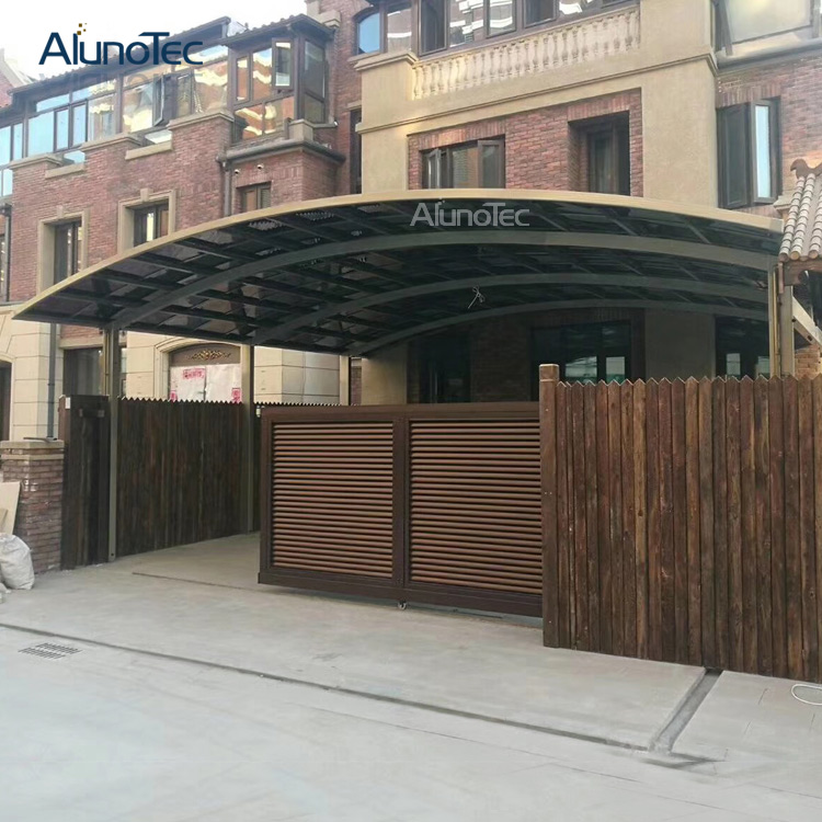 Solid Aluminum Outdoor Balcony Garden Modern Caport Canopy for 2 Cars