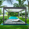 Luxury Easily Assembled Bioclimatic Pergola With Side Sun Screen
