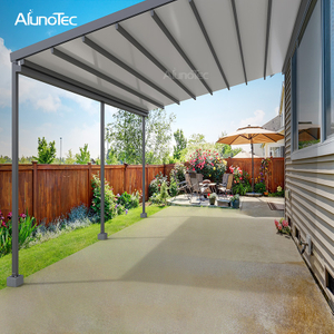 Outdoor Remote Controlled Pergola Metal Retractable Gazebo For Patio