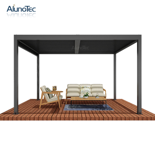 Modern Design Outdoor Shade Louvers Roof System Motorized Aluminium Bioclimatic Pergola